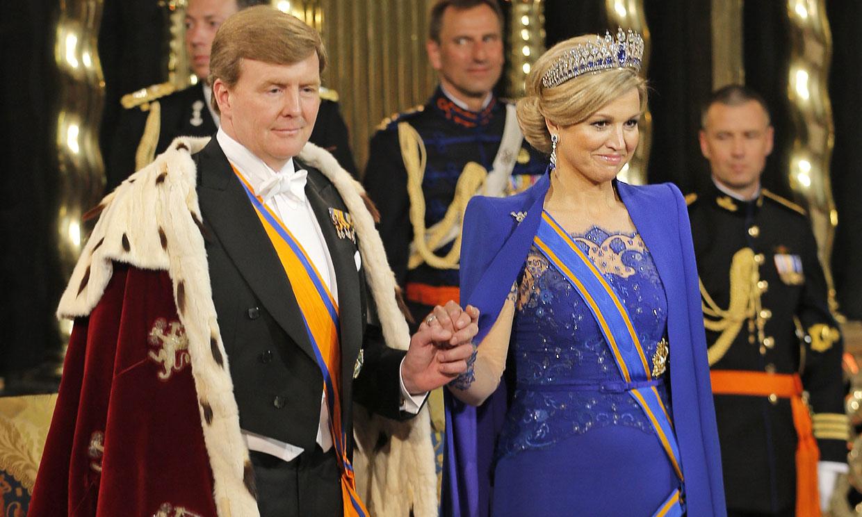 Se cumplen 8 años del primer look de Máxima como reina (y con doña Letizia como invitada)