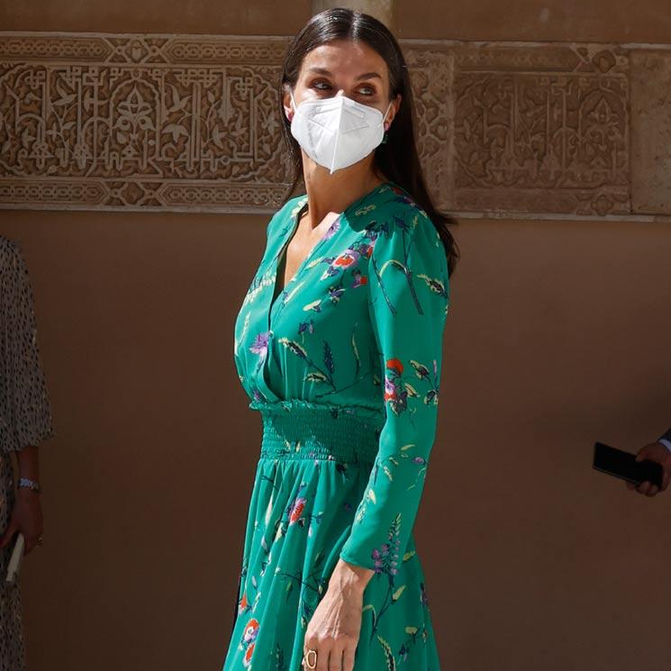 De Oviedo y Palma a Granada: Doña Letizia recicla uno de sus vestidos de flores más aplaudidos