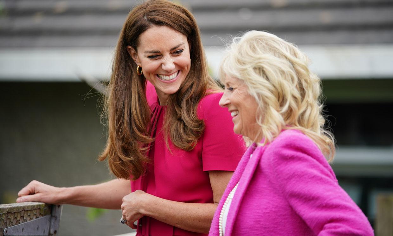¡Parece, pero no es! Kate asiste al G7 con el 'clon' de uno de sus vestidos de invitada