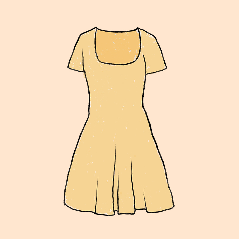 Vestido evasé