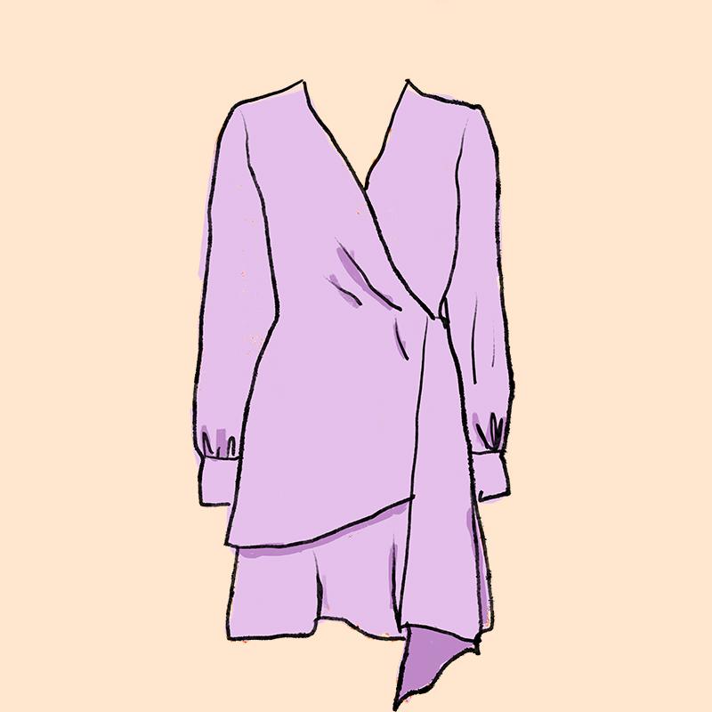 Vestido escote cruzado