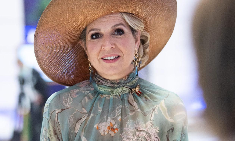 Máxima tampoco olvida en Alemania el estilo que le 'coronó' como reina