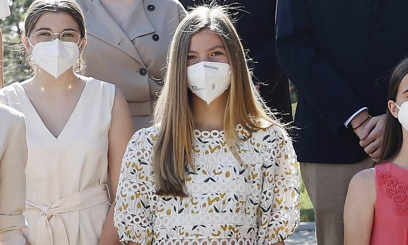 Con un vestido de guipur: la infanta Sofía se une a la tendencia que triunfa entre las 'influencers'