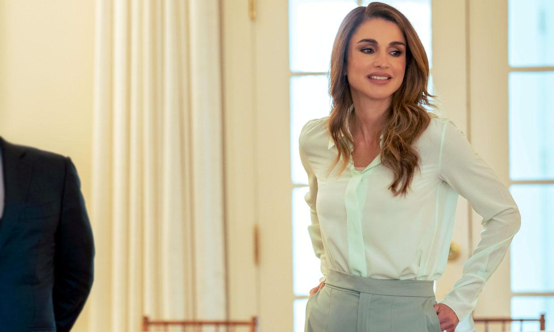 Los 4 looks virales de Rania de Jordania en EEUU, pura innovación