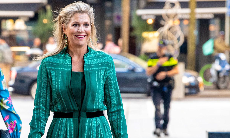 Máxima de Holanda inaugura el curso con un vestido de diosa griega