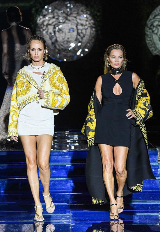 Amber Valleta and Kate Moss