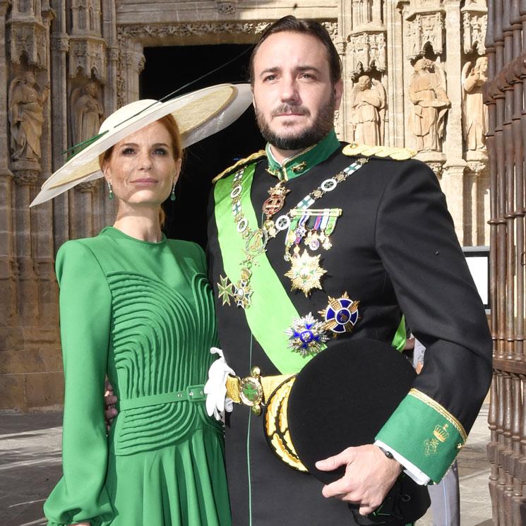 Olivia de Borbón, una elegante madrina con vestido esmeralda y joyas 'vintage'