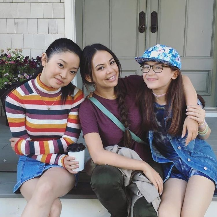 From left to right: Lana Condor, Janel Parrish and Anna Cathcart