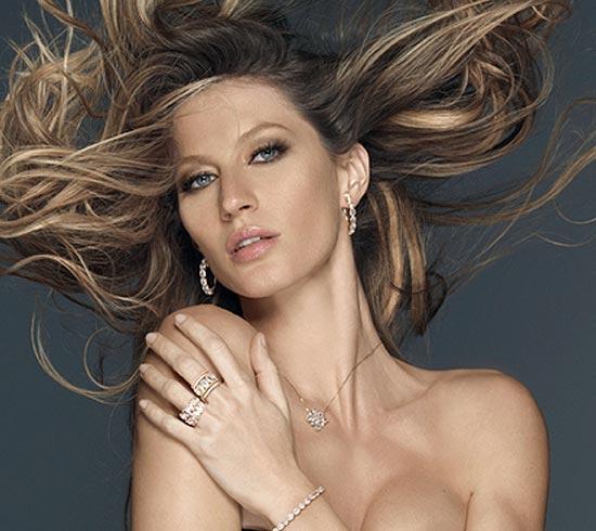 Gisele Bündchen, súper 'sexy' como imagen de una firma de joyas