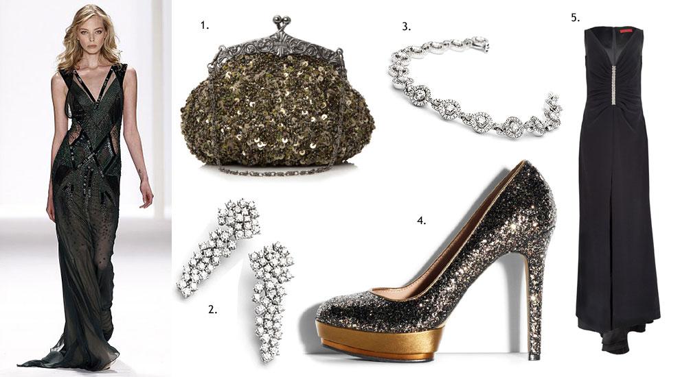 Zapatos para vestido negro fiesta