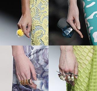 Joyas de pasarela: ¿Sabes qué anillos triunfan esta primavera-verano de 2013?