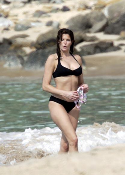 Stephanie Seymour desnuda su cuerpo en San Bartolomé