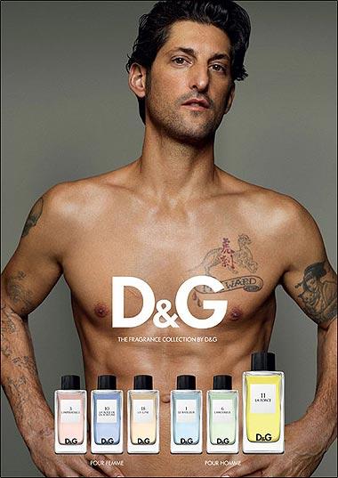 El 'antimodelo' Tony Ward se desnuda como nuevo rostro de D&G