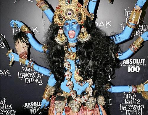 Heidi Klum Halloween Shiva.Ni Con Vestido Largo Ni Con Lencería Sabes Cuál Ha Sido El