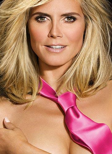 Heidi Klum, divertido 'desnudo' para promocionar su programa de televisión