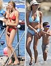 Inés Sastre y Karolina Kurkova, dos 'top mamás' de vacaciones en la playa