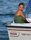 Kate Moss, de vacaciones en Saint-Tropez un mes después de su boda con Jamie Hince