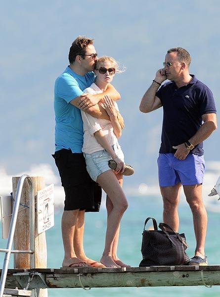 La modelo Lara Stone y su marido, David Walliams, dos enamorados en Saint-Tropez
