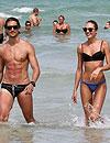 Candice Swanepoel y su novio, Hermann Nicoli, de vacaciones en Miami