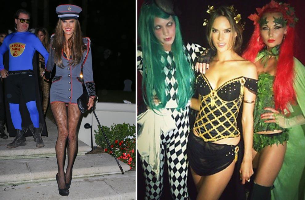 Aterradoras, 'sexys'… ¿Reconoces a estas modelos con sus disfraces de Halloween?