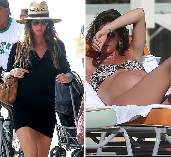Gisele Bündchen luce embarazo en bikini por las playas de Miami