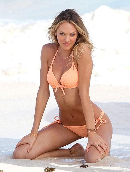 ed52e8d0a Las dos caras de Candice Swanepoel   Sexy  modelo en bikini y ...