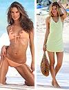 Alessandra Ambrosio y Doutzen Kroes nos adelantan la moda en ropa de baño y playa para el verano de 2013