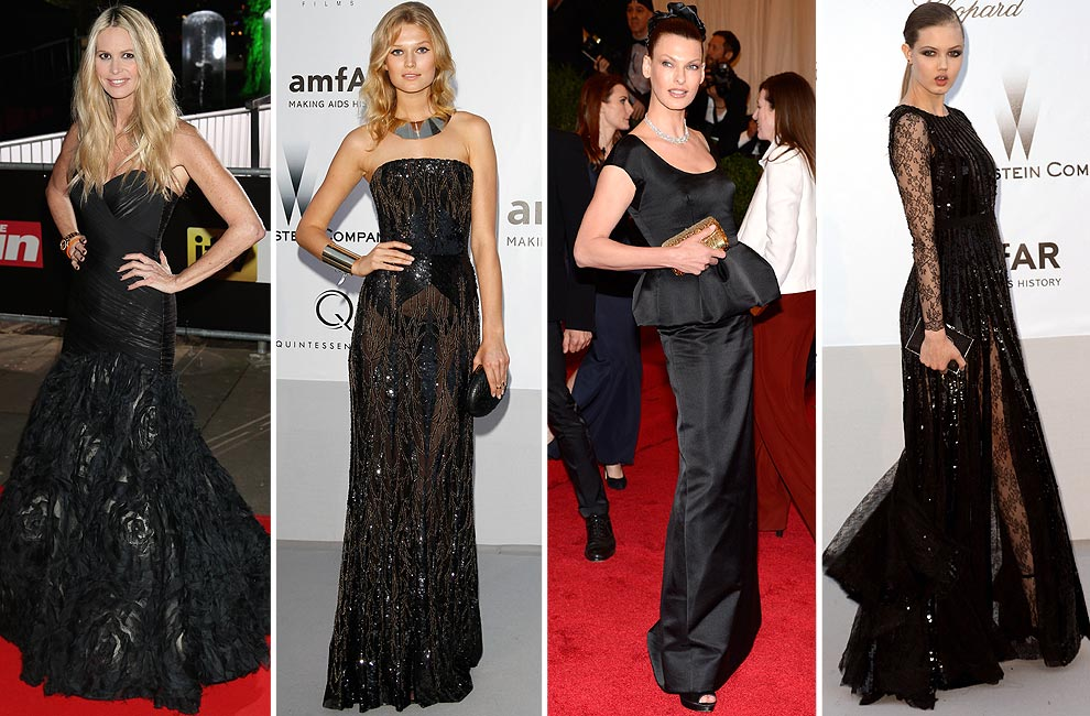 Accesorios para vestido negro corto de fiesta