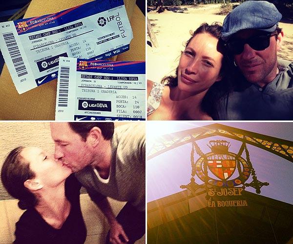 Christy Turlington y Edward Burns: días de amor, relax y fútbol por Barcelona