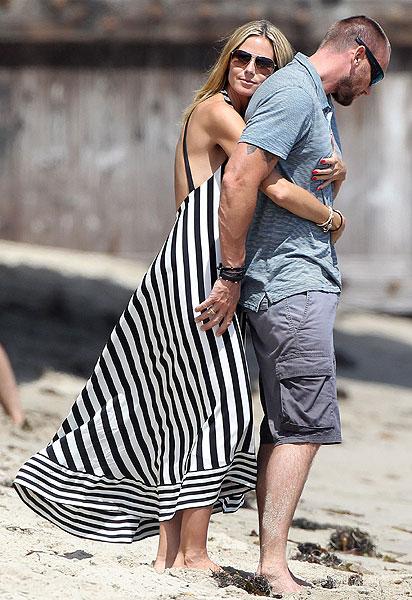 Heidi Klum presume de novio en las playas de Malibú