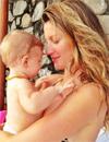 Gisele Bündchen y Miranda Kerr se deshacen en mimos con sus hijos