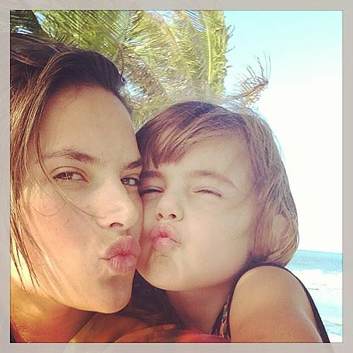 Alessandra Ambrossio y su hija Anja