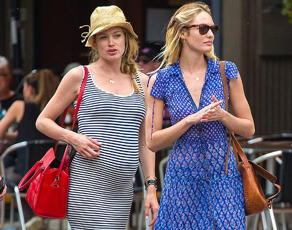 Candice Swanepoel y Doutzen Kroes: Estilo a la última para un 'lunch' por Nueva York