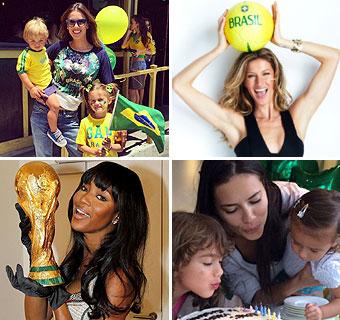 Modelos de celebración: del cumpleaños de Adriana Lima a la pasión futbolera de Naomi Campbell, Alessandra Ambrosio y Gisele Bündchen