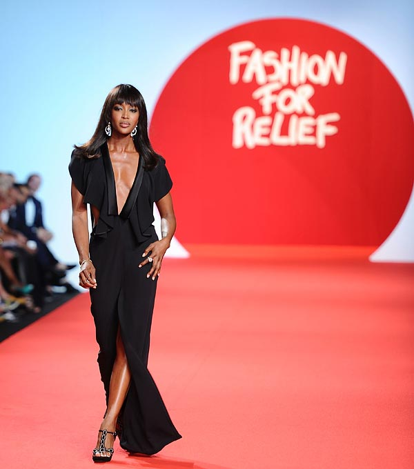 Naomi Campbell, solidaria en la lucha contra el Ébola