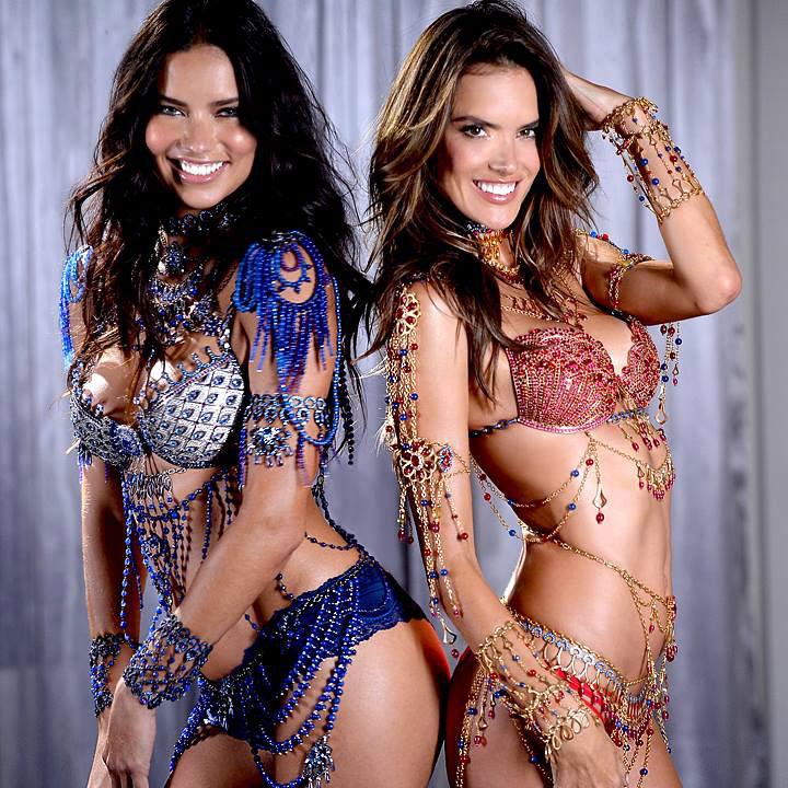 Alessandra Ambrosio y Adriana Lima harán historia en el Victoria's Secret 'Fashion Show' 2014. ¿Sabes la razón?