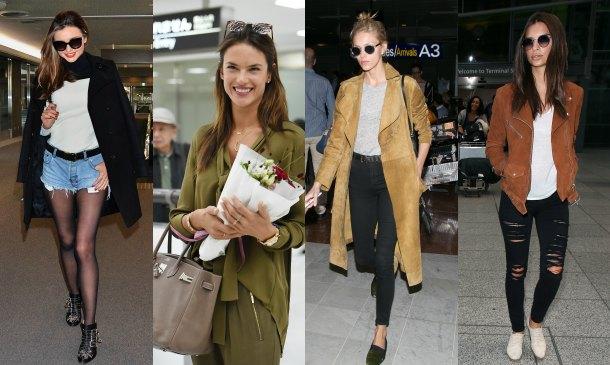 Modelos 'off-duty'... y sus mejores estilismos en el aeropuerto