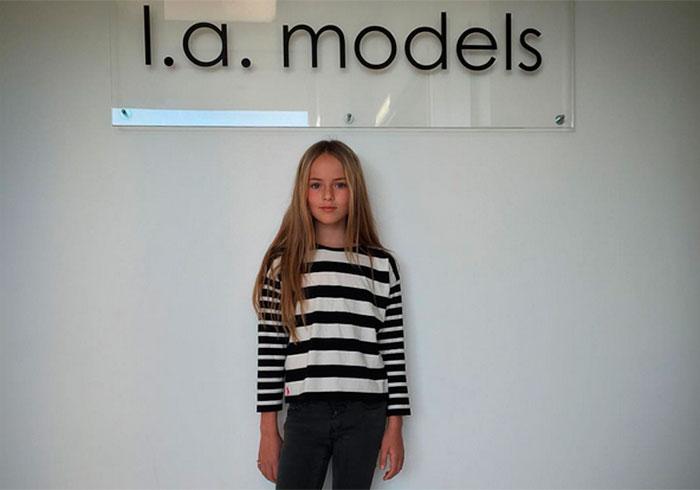 Kristina Pimenova, 'la niña más guapa del mundo', ya es modelo