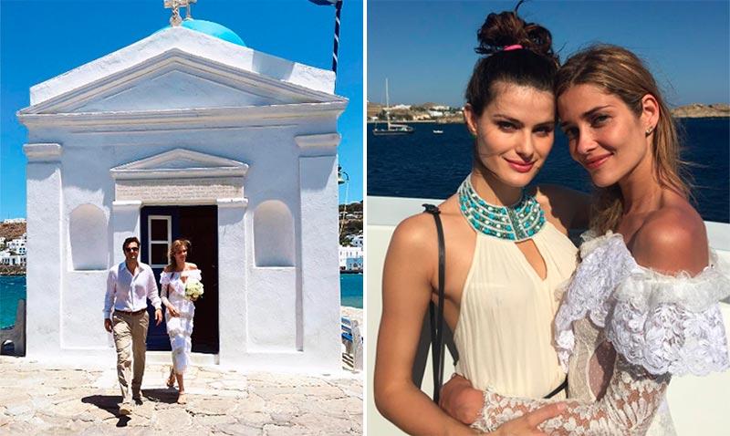 Ana Beatriz Barros y su original boda en Mikonos