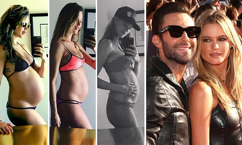 Behati Prinsloo, la evolución de su embarazo 'selfie a selfie' (y en bikini)