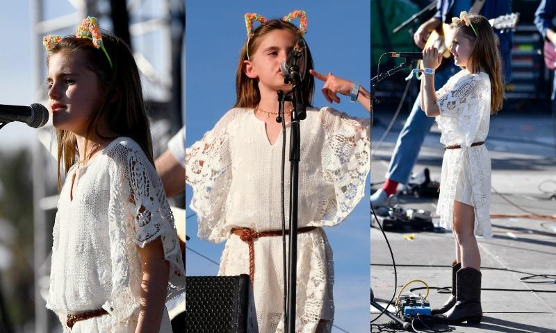 Anja Ambrosio... ¿tras los pasos de mamá o papá? ¡Se sube al escenario de Coachella!