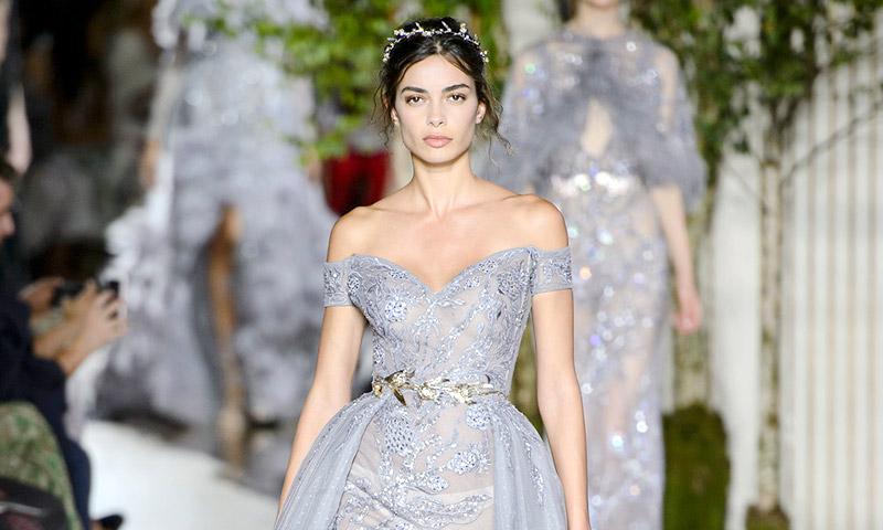 Joana Sanz debuta en la Alta Costura y confirma que las modelos españolas no tienen rival