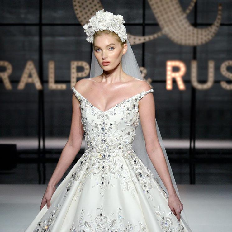 elsa hosk se viste de novia para su debut en la alta costura - foto