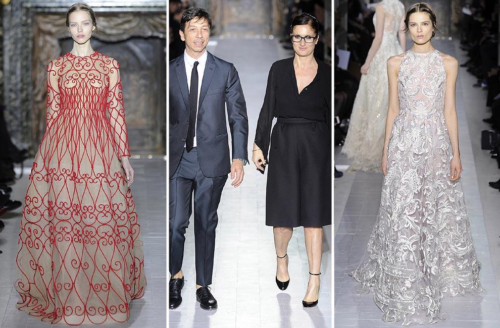 Un jardín de encaje y tul, nueva colección de Valentino Alta Costura