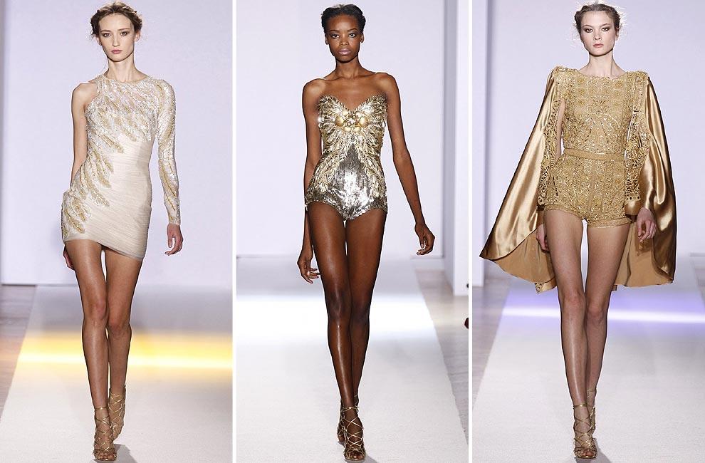 Zuhair murad broche de oro para los desfiles de alta - Diseno alta costura ...