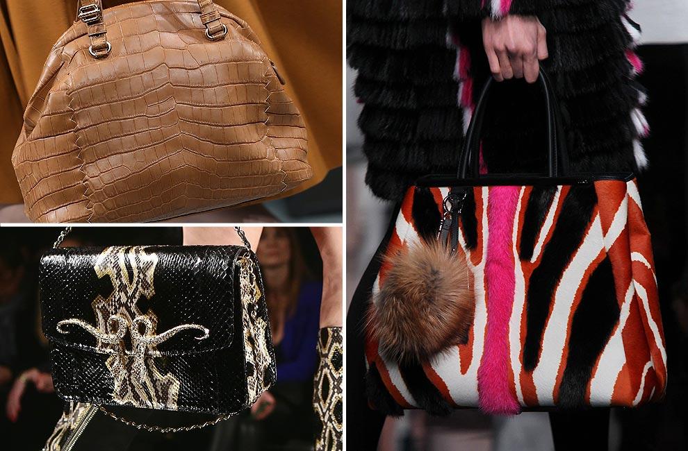 Milán otoño-invierno 2013-2014: Bolsos, zapatos, collares… Los complementos de la pasarela italiana en formato 'XXL'