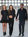 Erin Heatherton, Izabel Goulart y el actor Paul Walker, estrellas de la Sao Paulo Fashion Week