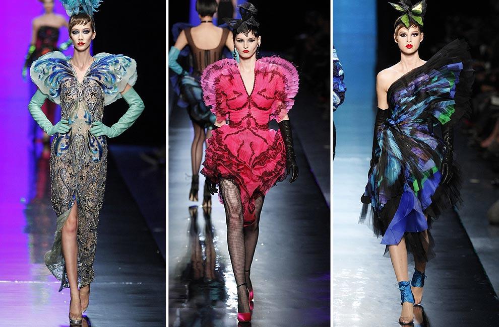 Jean Paul Gaultier llena de psicodélicas mariposas la Alta Costura de París