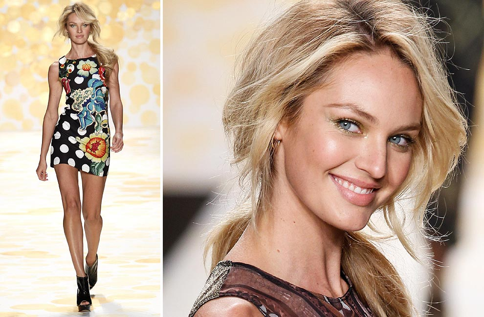 Candice Swanepoel, Erin Heatherton… Desigual llena de color el comienzo de 'New York Fashion Week' otoño-invierno 2014-2015