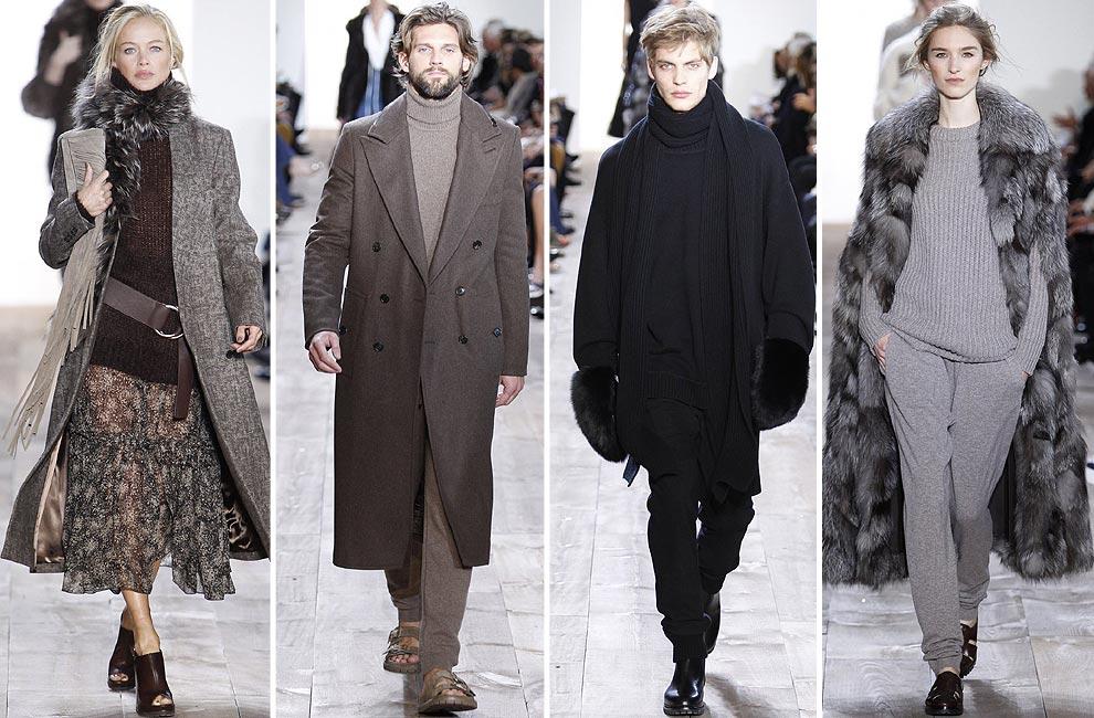 Michael Kors (otoño-invierno 2014-2015)  Tonalidades marrones y grises  dominan la pasarela del diseñador estadounidense. En esta ocasión 16a7071688e3